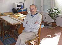 John Ivar Berg in his studio