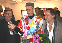 Kjartan surrounded by Lars Wiman and Bengt Kirschon