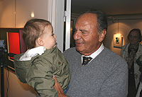 Arne Belenius with great grand-son Simon