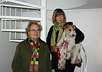 KG Nilson and Anne Makander with dog