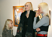 Helena Stenberg and daughter with Anette Lindegaard