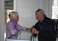Anette Lindegaard and Prof. Ulf Stendahl