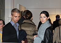 The artist's grandson Hannes Andersson with girlfriend