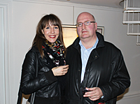 Gunnar Sjögren with friend Lena