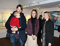 Anders, Eddielou and Helena with Malin
