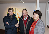 Philip with parents: Hans-åke & Catharina Sjöqvist