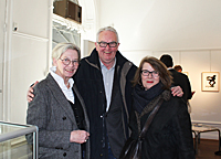 Tonie Lewenhaupt with Christoffer and Hanne  Barnekow