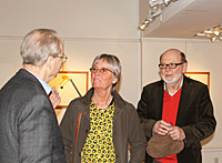 Ingmar Dahlberg with Charlotte and Lars Källquist