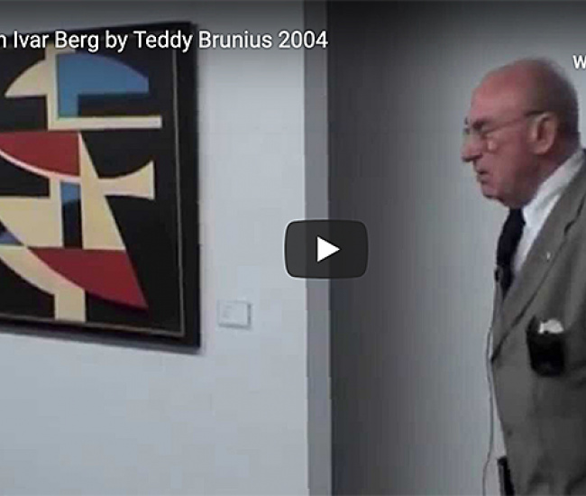 Teddy Brunius inauguration of John Ivar Berg exhibition 2004