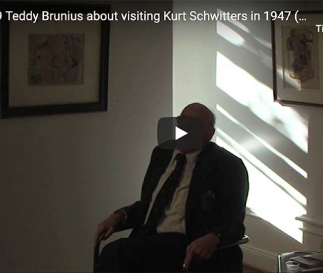 Teddy Brunius inauguration of exhibition Kurt Schwitters and the Swesdish collage 2009